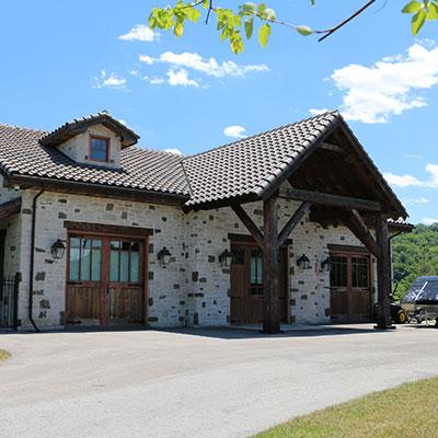 timber house exterior