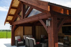 timber frame outdoor living space